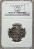 1652 SHILNG Oak Tree Shilling, IN at Bottom, Massachusetts -- Scratches -- NGC Details. VF. NGC Census: (2/61). PCGS Pop...