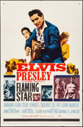 "Movie Posters:Elvis Presley, Flaming Star (20th Century Fox, 1960). Folded, Fine/Very Fine. OneSheet (27"" X 41"") Style B. Elvis Presley.. ..."
