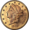Liberty Double Eagles, 1885 $20 MS61 PCGS....