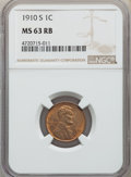 1910-S 1C MS63 Red and Brown NGC. NGC Census: (137/382). PCGS Population: (205/991). CDN: $115 Whsle. Bid for problem-fr...