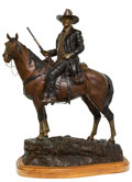 Sculpture, David Manuel (American, b. 1940). The American Legend, John Wayne, 1984. Bronze with brown and gold patina. 31 inches (7...