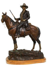 David Manuel (American, b. 1940) The American Legend, John Wayne, 1984 Bronze with brown and gold pa