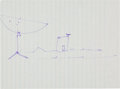 Explorers:Space Exploration, Neil Armstrong Hand-Drawn Image of an Apollo Tracking Station, One of a Series He Drew for His Father as He Explained NASA's P...