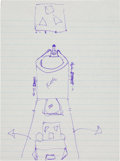 Explorers:Space Exploration, Neil Armstrong Hand-Drawn Image of the Lunar Module Transposition and Docking Procedure, One of a Series He Drew for His Fathe...