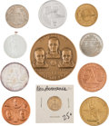 Explorers:Space Exploration, Neil Armstrong and Apollo 11: Large Collection of Related Medals, Coins, Wooden Nickels, and Matches including Two Apollo 11 M...