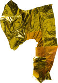 Explorers:Space Exploration, Apollo 9 Lunar Module Flown Large Kapton Foil Remnant Directly from the Personal Collection of Mission Lunar Module Pilot Rust...