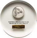 Explorers:Space Exploration, Apollo 9 Flown Silver Robbins Medallion, Serial Number 178, and Segment of Electrical Umbilical Cord in Acrylic Display Direct...