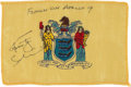 Explorers:Space Exploration, Apollo 9 Flown New Jersey State Flag Directly from the Personal Collection of Mission Lunar Module Pilot Rusty Schweickart, Si...