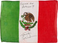 Explorers:Space Exploration, Apollo 9 Flown National Flag of Mexico Directly from the Personal Collection of Mission Lunar Module Pilot Rusty Schweickart, ...