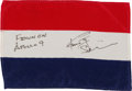 Explorers:Space Exploration, Apollo 9 Flown National Flag of the Netherlands Directly from the Personal Collection of Mission Lunar Module Pilot Rusty Schw...