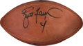 Football Collectibles:Balls, 1997 Brett Favre and Reggie White Signed Pro Bowl Game Football from The Eric Davis Collection....