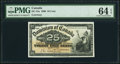 Canadian Currency, DC-15a 25 Cents 1900 PMG Choice Uncirculated 64 EPQ.. ...