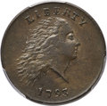 Large Cents, 1793 1C Chain, Large R/AMERICA, S-3, B-4, Low R.3, AU53 PCGS. CAC....