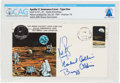 """Explorers:Space Exploration, Apollo 11 Crew-Signed """"Type One"""" Insurance Cover Directly From The Armstrong Family Collection™, CAG Certified. ..."""