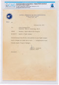 Explorers:Space Exploration, James McDivitt 1971 Typed Letter Signed to Neil Armstrong Regarding Apollo 11 Beta Cloth Patches, Directly From The Armstr...