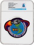 Explorers:Space Exploration, Apollo 7: Neil Armstrong's Personally-Owned Lion Brothers Embroidered Mission Insignia Patch, Purple Twill Variant, Direct...