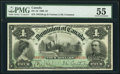 Canadian Currency, DC-16 $4 2.7.1900 PMG About Uncirculated 55.. ...