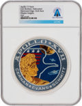 Explorers:Space Exploration, Apollo 17: Neil Armstrong's Personally-Owned Lion Brothers Hallmarked Embroidered Mission Insignia Patch Directly From The...