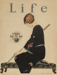 C. Coles Phillips (American, 1880-1927) Orders/Skirts Will be Shorter this Fall, Life magazine cover, A