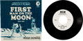 "Explorers:Space Exploration, Neil Armstrong Vinyl Collection: ""First Man On The Moon"" 45 RPM Record Narrated by Hugh Downs in Picture Sleeve, Directly ..."