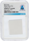 Explorers:Space Exploration, Apollo 11 Flown Beta Cloth Segment Directly From The Armstrong Family Collection™, CAG Certified....