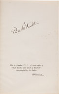 "Autographs:Others, 1928 Babe Ruth Signed First & Limited Edition of ""Babe Ruth's Own Book of Baseball.""..."