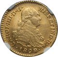 Colombia, Colombia: Charles IV gold Escudo 1802/1 NR-JJ AU58 NGC,...