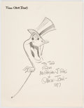 Animation Art:Production Drawing, Chuck Jones - Michigan J. Frog Sketch Original Art (WarnerBrothers, 1977)....