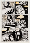 Original Comic Art:Panel Pages, Charlton Comics Horror Story Pages Original Art Group of 2 (Charlton, c. 1976).... (Total: 2 Items)