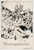 Original Comic Art:Splash Pages, Mike Grell and Vince Colletta Warlord #48 Splash Page 8Original Art (DC, 1981)....