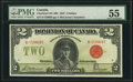 Canadian Currency, DC-26b $2 1923 PMG About Uncirculated 55.. ...