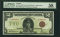 Canadian Currency, DC-26e $2 1923 PMG Choice About Unc 58.. ...