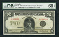Canadian Currency, DC-26l $2 1923 PMG Gem Uncirculated 65 EPQ.. ...