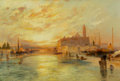 Paintings, Thomas Moran (American, 1837-1926). Venice. Oil on canvas. 20 x 30 inches (50.8 x 76.2 cm). Signed and dated with artist...