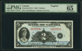 Canadian Currency, BC-3 $2 1935 PMG Gem Uncirculated 65 EPQ.. ...