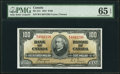 Canadian Currency, BC-27c $100 1937 PMG Gem Uncirculated 65 EPQ.. ...