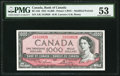 Canadian Currency, BC-44d $1000 1954 PMG About Uncirculated 53.. ...