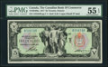 Canadian Currency, Toronto, ON- Canadian Bank of Commerce $5 Jan. 2, 1917 Ch. #75-16-04-06a PMG About Uncirculated 55 EPQ.