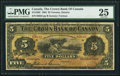 Canadian Currency, Toronto, ON- Crown Bank of Canada $5 1.6.1904 Ch.# 215-10-02 PMG Very Fine 25.. ...