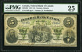 Canadian Currency, Toronto, ON- Federal Bank of Canada $5 July 1, 1874 Ch. # 300-10-04PMG Very Fine 25.. ...