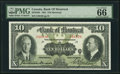 Canadian Currency, Montreal, PQ- Bank Of Montreal $10 2.1.1931 Ch.# 505-58-04 PMG GemUncirculated 66 EPQ.. ...