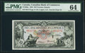 Canadian Currency, Toronto, ON- Canadian Bank of Commerce $10 Jan. 2, 1935 Ch. #75-18-08a PMG Choice Uncirculated 64.. ...