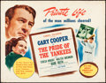 """Movie Posters:Sports, The Pride of the Yankees (RKO, R-1949). Rolled, Fine/Very Fine. Half Sheet (22"""" X 28"""") Style A. Sports.. ..."""