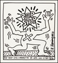 "Pop Shop Flyer by Keith Haring (1986). Rolled, Fine/Very Fine. Advertising Poster (22"" X 24""). Miscellaneous..."