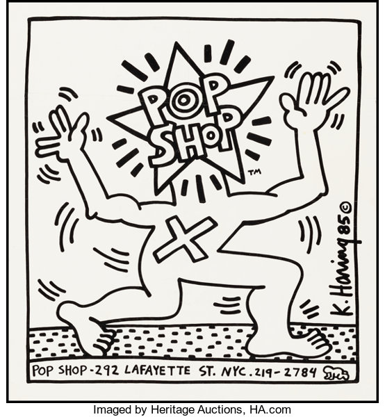 aca624dcd Movie Posters:Miscellaneous, Pop Shop Flyer by Keith Haring (1986). Rolled
