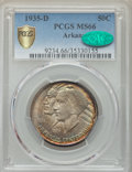 Commemorative Silver, 1935-D 50C Arkansas MS66 PCGS Secure. CAC. PCGS Population: (242/50 and 17/8+). NGC Census: (116/26 and 4/4+). CDN: $225 Wh...