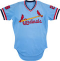 Baseball Collectibles:Uniforms, 1979 Tom Herr Game Worn St. Louis Cardinals Rookie Jersey - Rare Two-Year Style....