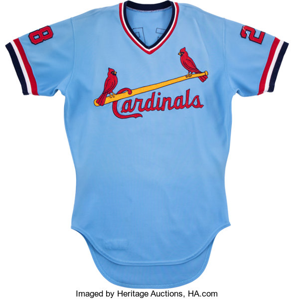 detailed look fc547 2522a 1979 Tom Herr Game Worn St. Louis Cardinals Rookie Jersey ...