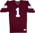 Football Collectibles:Uniforms, 1984 Anthony Carter Game Worn & Signed Michigan Panthers Jersey....