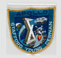 "Explorers:Space Exploration, Apollo 10 Flown Embroidered Mission Insignia ""Grumman"" Crew Patch Directly from the John W. Young Collection, with Letter of C..."